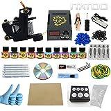 ITATOO Pro Tattoo Kits Pro Tattoo Guns Tattoo Pigment Tattoo Maschine komplett Set LED-Netzteil EU-Stecker (TK1000009)