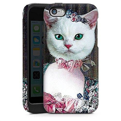 Apple iPhone 4 Housse Étui Silicone Coque Protection Chaton Chat Chat Madame Cas Tough brillant