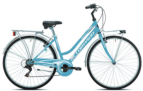 TORPADO BICICLETA CITY ALBATROS LADY 28  5 V  TALLA 44  COLOR AZUL/BICYCLE (CITY) CITY ALBATROS LADY 28 6S SIZE 44 LIGHT BLUE CITY ()