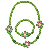NeedyBee Baby Girls Jewellery Green Colo...