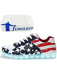 (Presente:pequeña toalla)Negro EU 35, intermitente Mujeres Hombres zapatos Unisex JUNGLEST®