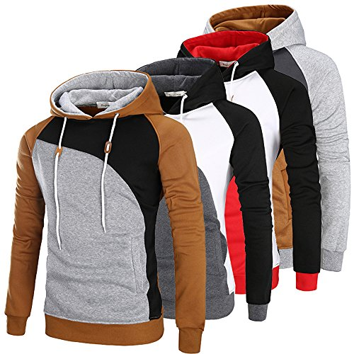 Sunshey Herren Jungen Kapuzensweatshirt Kapuzenpullover Schwarz Rot M,XL,L Rot