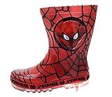 Marvel Bottes en caoutchouc Spiderman pour garçon, pointure 24 - Rouge - RED - BLACK WEB, 27 EU