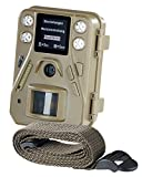 VisorTech Fotofalle: HD-Mini-Wildkamera mit Farbdisplay & Infrarot-Nachtsicht, 12 MP, IP66 (Wildcam)