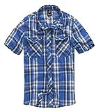 Brandit Roadstar Hemd Blau/Weiß M