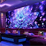 Zybnb Murales De Papel Tapiz Grande En 3D Para Ktv Bar Salón De Karaoke Resumen Dazzling Colorful Light Flower Photo Wallpaper Para Walls