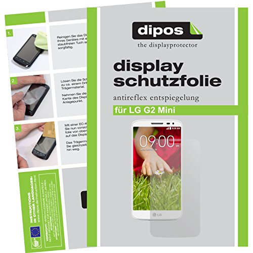 dipos I 2X Schutzfolie matt passend für LG G2 Mini Folie Bildschirmschutzfolie