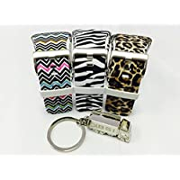 BSI Set 3 - 1pc Zebra Color 1pc Leopard Color and 1pc Zigzag Rainbow Design Replacement Bands For Samsung Gear S Smart Watch Smartwatch Wireless + Free Silver Metal Truck Keychain with BSI(TM) LOGO
