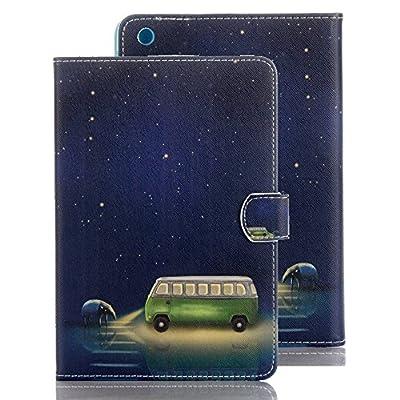 elecfan®Luxus Bookstyle Folio Hülle Tasche Ständer Magnet Auto Aufwachen Schlaf Funktion und Einstellbarem Blickwinkel Funktion Schutzhülle für iPad von elecfan - Du und dein Garten