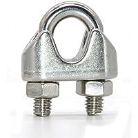 10 abrazaderas de acero inoxidable para cable de alambre de 3/4/5/6/8 mm con perno en U para sujección de sillín