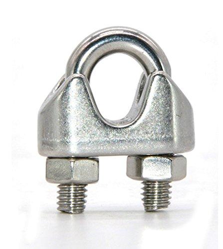 10 abrazaderas de acero inoxidable para cable de alambre de 3/4/5/6/8 mm...
