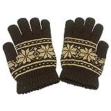 Unisex Woollen Gloves (Brown, Free Size)