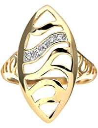 Naava Damen-Ring 375 Gelbgold Diamant 9 Karat PR06030O-p