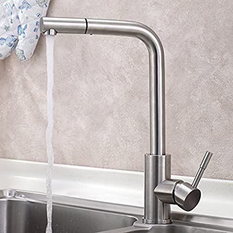 SUHANG Stainless Steel Pull Faucet, Kitchen Sink, Hot Water Faucet,A
