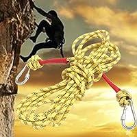 Bazaar Montagna corda stringa di sopravvivenza all'aperto paracord dinamico con due ganci Rock 10m