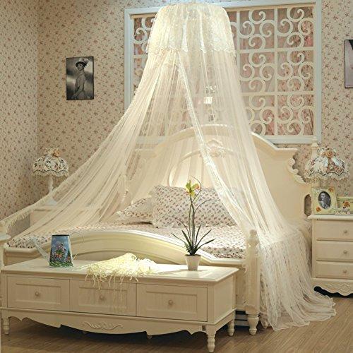 Mosquito net queen-size-bett ruhigen schlaf insektenschutz-Beige 180x200cm(71x79inch) (2-zimmer-zelt)