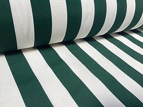 Khaki Weiß gestreiftem Stoff?Streifen Vorhang Polster 140cm (Meterware)