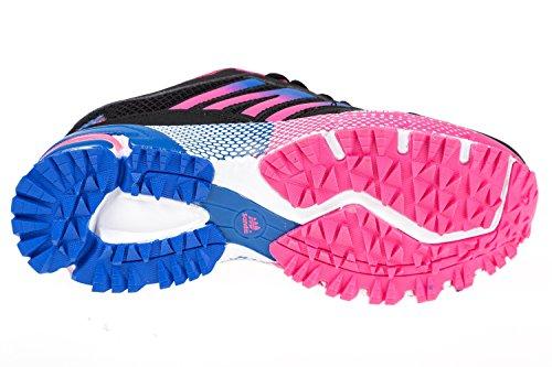 Gibra ® femme, très léger et confortable, noir/rose/bleu-taille 36 à 41 Multicolore - schwarz/pink/blau