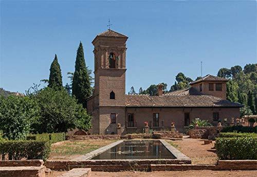 ZZXSY Rätsel Erwachsene Puzzle 1000 Teile Kirche San Francisco Alhambra, Granada, Spanien Puzzle Für Jung Und Alt