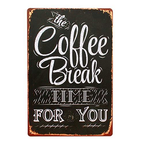 JAMILA Kaffeepause Zeit Für Sie Vintage Metall Blechschild Bar Pub Home Wand-dekor Poster Retro Metall Poster Für Cafe Dekoration A752 -