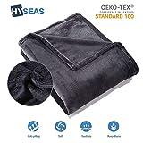 Best canapés-lits - HYSEAS Couverture Douce en Microfibre, 220x240cm Noir, Chaude Review