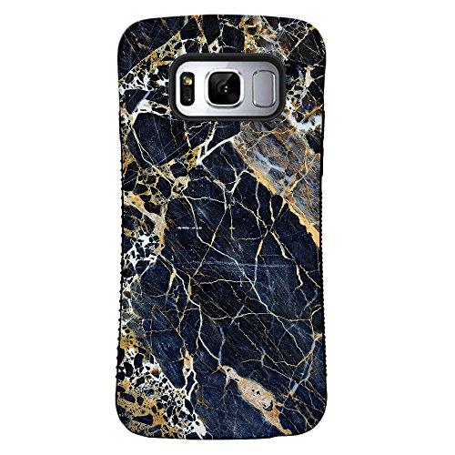 ZUSLAB Galaxy S8 Hülle, Hirsch Muster Schwerschutz Fallschutz Extrem Hoher Schutzhülle Weich Rand Robust Stoßfest handyhülle für Samsung Galaxy S8 [Face][Deer] Luxus Schwarz