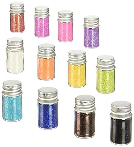 Doodlebug Sugar Coating Glitter Assortment 5 g Bottles 1, Pack