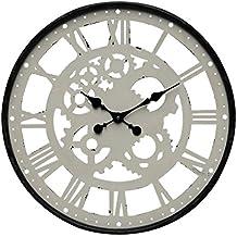 Metal Loft Reloj De Pared New York Loft Blanco