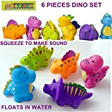 TOY-STATION DINO FRIENDS BATH TOYS - 6PC SET