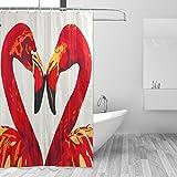 COOSUN Flamingos Lieber Druck Duschvorhang, Polyester-Gewebe Duschvorhang, 66 x 72-inch 66x72 Mehrfarbig