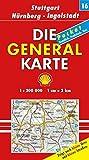 Die Generalkarte Deutschland Pocket. 1:200000: Die Generalkarten Deutschland Pocket, 20 Bl., Bl.16, Stuttgart, Nürnberg, Ingolstadt