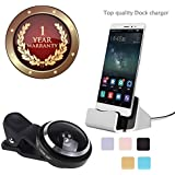 Elevea 235 Degree Fish Eye Camera Lens & USB Type C Charging Holder,Data Transfer Dock Charger For All Android/iOS Devices-Assorted Colour (1 Year Warranty)