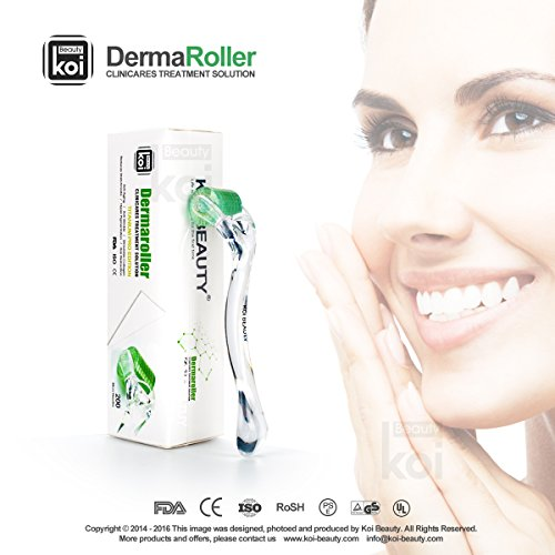 Koi-Beauty-200-Micro-Needle-Tips-Derma-Roller-Skin-Problems-Medical-Titanium-Face-Body-Unisex