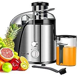Jocuu Centrifugeuse Extracteur de Jus de Fruits et Légumes 600W Juicer Sans BPA avec Double Vitesse de Rotation, Brosse Incluse