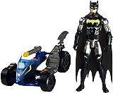 Mattel FPC76 DC Justice Leage Action-Jagd Batman 30 cm Figur mit Knight-Runner Fahrzeug, Spielzeug Actionfiguren ab 4 Jahren