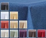 Maltex24 Textil Tischdecke - Leinen Optik - wasserabweisend Eckig 130x220 (Blau, ca. 130 x 220 cm) - 2