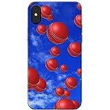 Es regnet Cricketbälle Hartschalenhülle Telefonhülle zum Aufstecken für Apple iPhone X (iPhone 10)