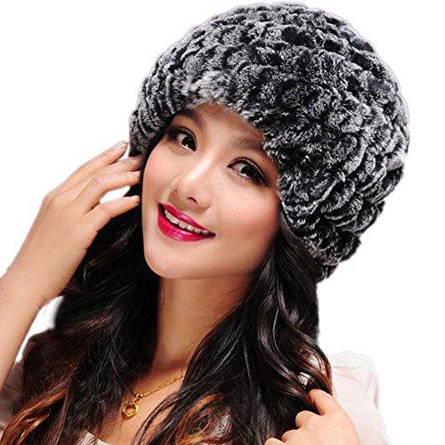 SMILEQ 3PC Ausverkauf Mädchen Damen Frauen Hüte Handgemachte Warme Kappen Weibliche Kopfbedeckungen (1x, ()