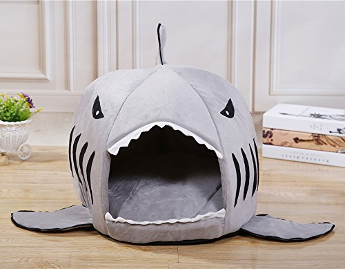 weare-home-shark-pattern-indoor-washable-pets-dog-cat-puppy-bed-warm-house-with-a-cushion-gray-l