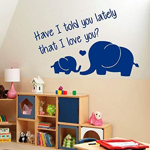 Tatuajes de pared Vinilo Pegatinas Elefantes Citas familiares Te amo Bebé Decoración...
