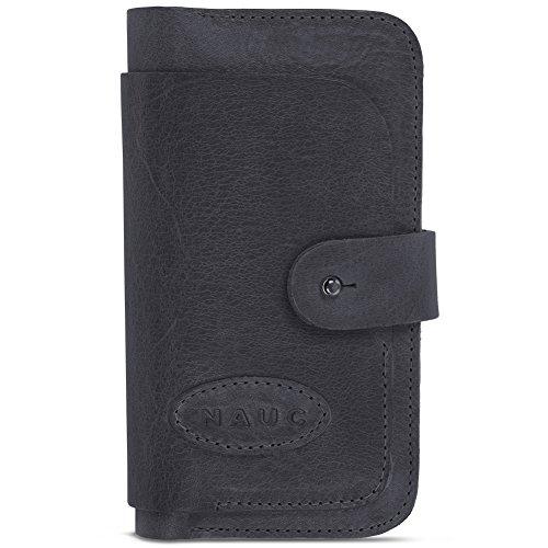 Leder Tasche für Apple iPhone Serie Sleeve Hülle Luxus Cover Schutzhülle Case , Farbe:cognac Braun, Smartphone:Apple iPhone 8 Plus Schwarz
