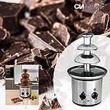 Clatronic SKB 3248 Schokoladenbrunnen, INOX, für Jede Schokolade und Karamell mit Schmelz-und Fließfunktion - 3