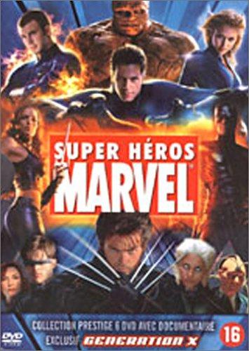 Collection Marvel 6 DVD : X-Men / X-Men 2 / Daredevil / Electra / Les 4 fantastiques / DVD Bonus : Génération X