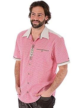 orbis Textil OS-Trachten Trachtenhemd Kurzarm Dominic Rot
