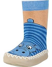 Playshoes Unisex - Baby Socken Hüttenschuh Nilpferd