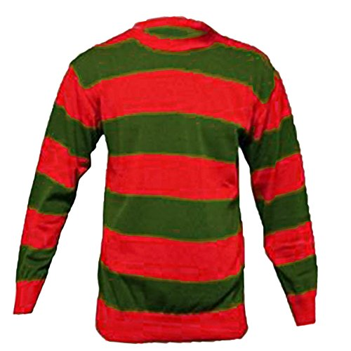 Freddy Krueger Kostüm Pullover - Sofias Closet Fancy Dress Halloween Freddie Krueger Costume Claw Skin Stripe Jumper Nightmare Halloween