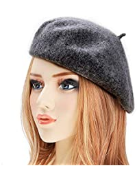 dressfan Boina Francesa para Mujeres Niñas otoño Invierno Boina Sombrero  Lana Calabaza Sombreros Ladie otoño Invierno 1695f5325d8
