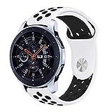 SLJIU Bracelet De Montre pour Samsung Galaxy Watch Bandes De 46Mm 22Mm Silicone Remplacement Bracelet pour Gear S3 Frontier Bande...