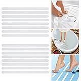 Incutex 16x bandes antidérapantes pour baignoire et douche, auto-adhérentes, autocollants antidérapants salle de bain transparents longitudinaux