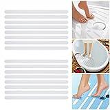 Incutex 16x Anti Rutsch Streifen für Badewanne und Dusche 38 cm lang – 2 cm breit, selbstklebend, transparent